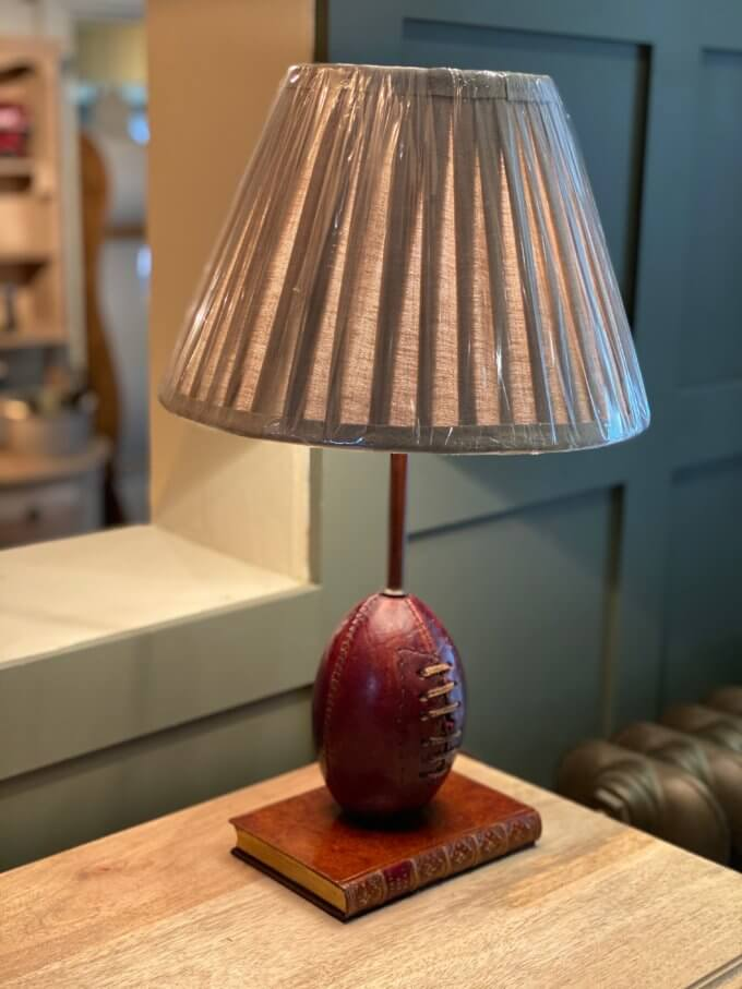 Lamp base with Rugby ball