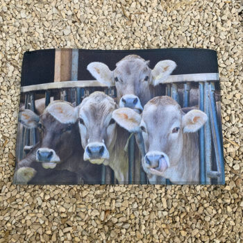 Doormat with cows