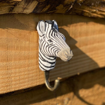 Zebra wooden hook