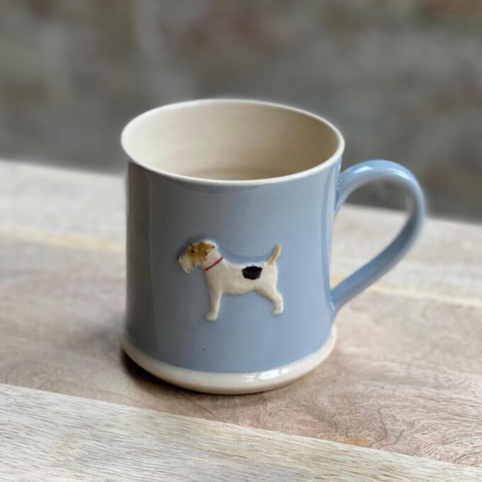 Handmade mug hand painted