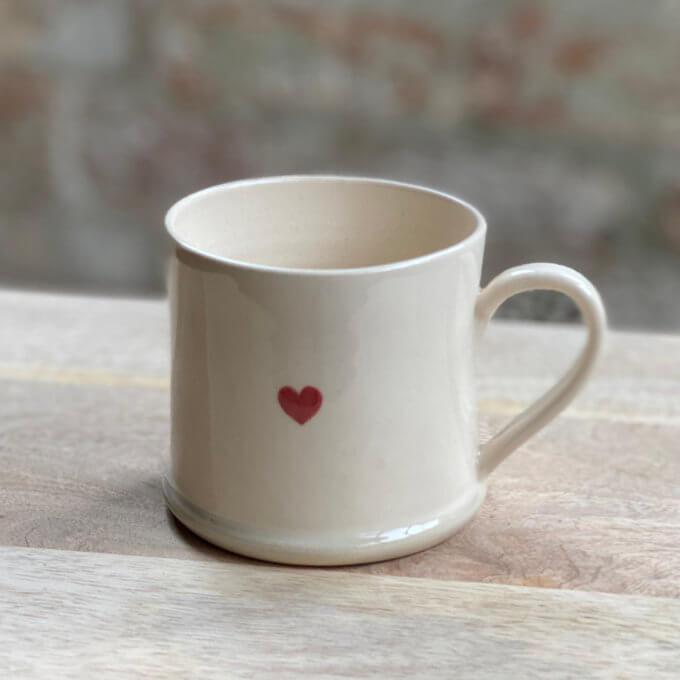 Handmade mug with heart
