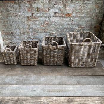 Wicker Log Baskets