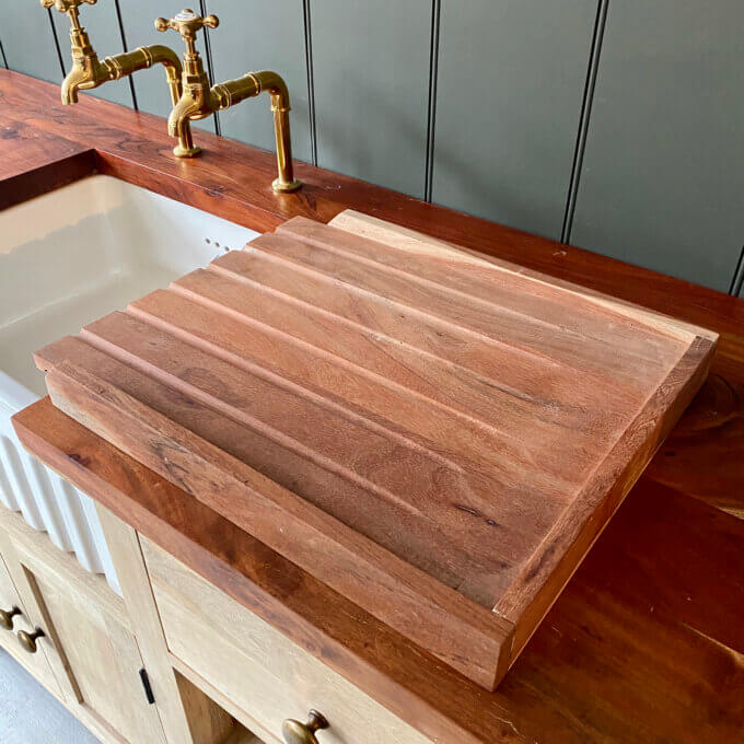 wooden draining board for kitchen