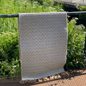 Jute recycled cotton runner