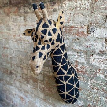 Jute Giraffe Head
