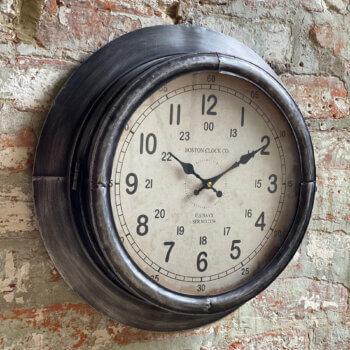 wall clock aged metal
